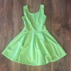 Dresses & Skirts - Lime Green A-Line Dress